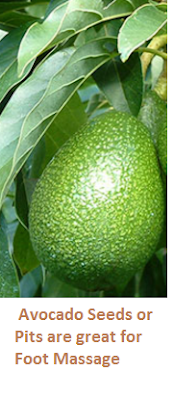Avocado Seeds or Pits are great for Foot Massage