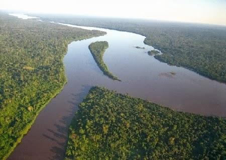 Rio Congo na África Central