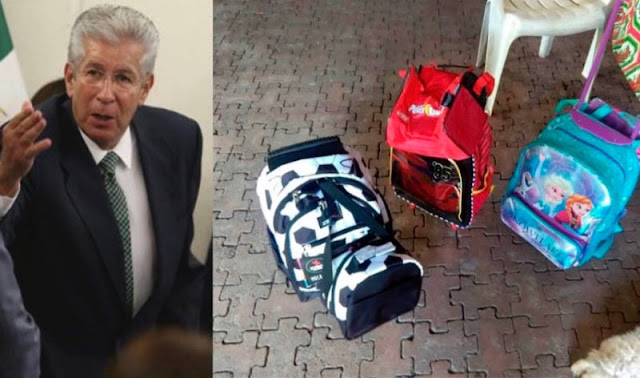 Ruiz Esparza pretende comprar a víctimas del socavón con tres mochilas.