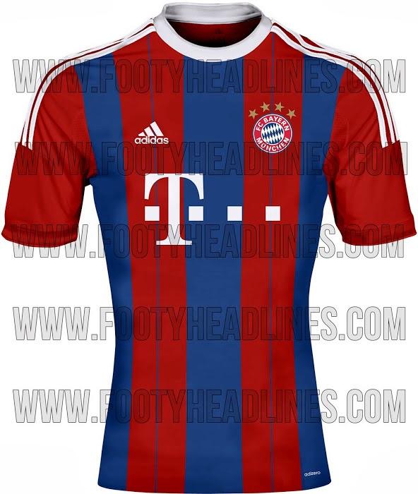 1cab5dcdf7 O site Footy Headlines divulgou uma imagem da suposta nova camisa número 1  do Bayern de Munique para temporada 2014 2015. O modelo é semelhante ao  usado ...