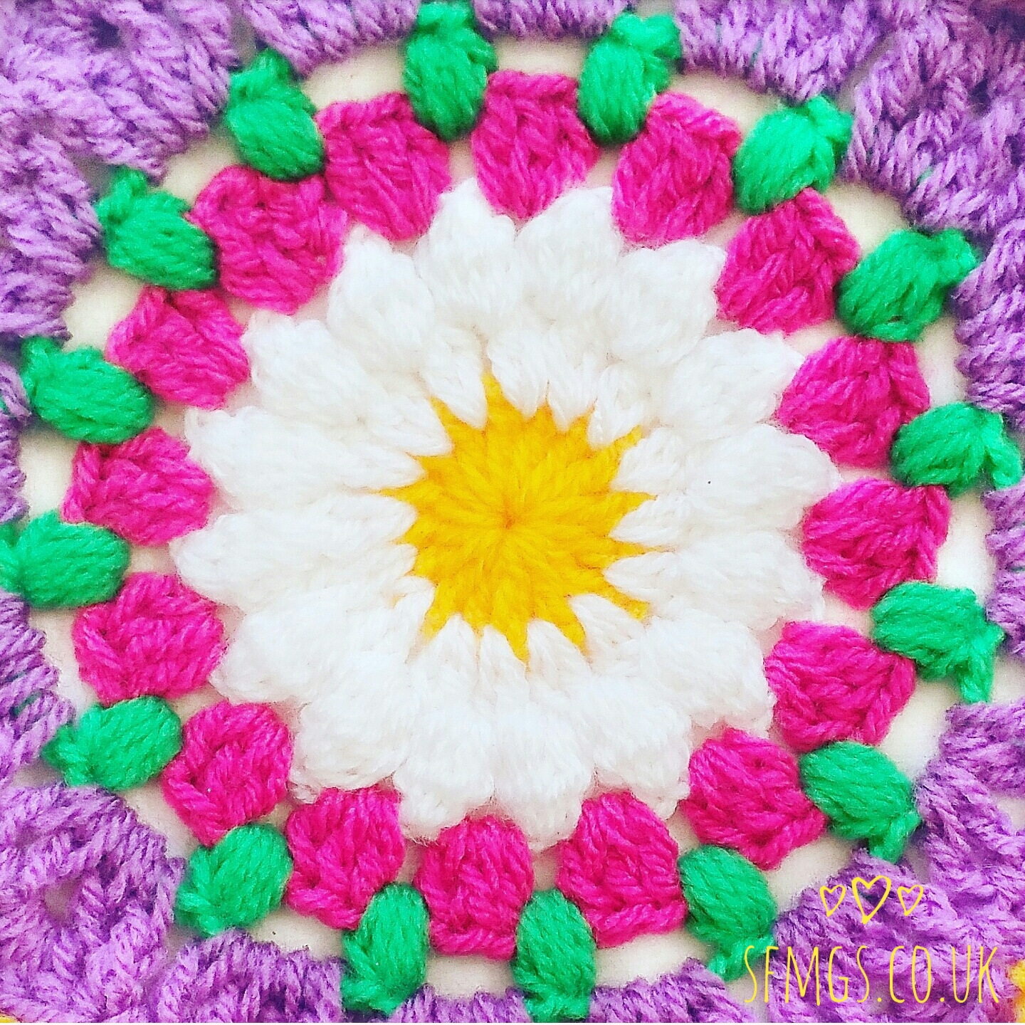 free crochet pattern mandala tutorial