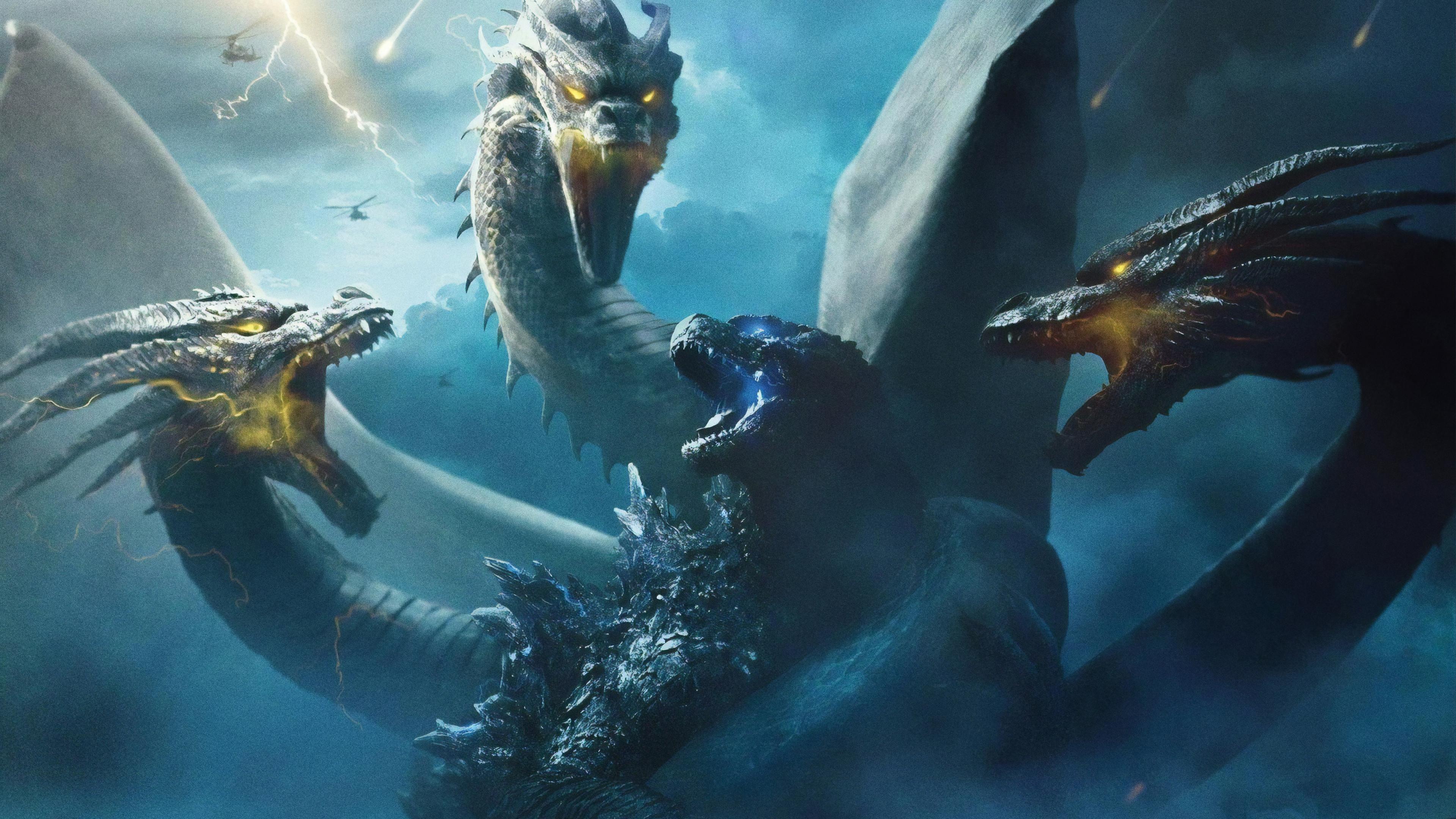 Godzilla Vs King Ghidorah King Of The Monsters 4k Wallpaper 15