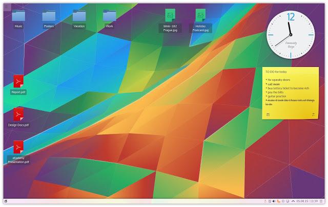 entorno de escritorio de KDE Plasma