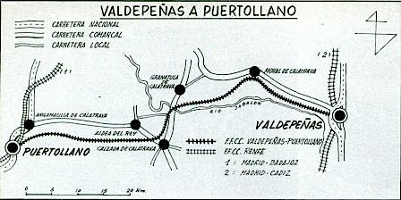 Trenes y tiempos cr nicas de la v a estrecha i de - Plano de valdepenas ...