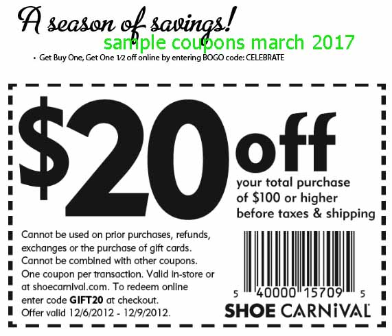 Shoe store coupons