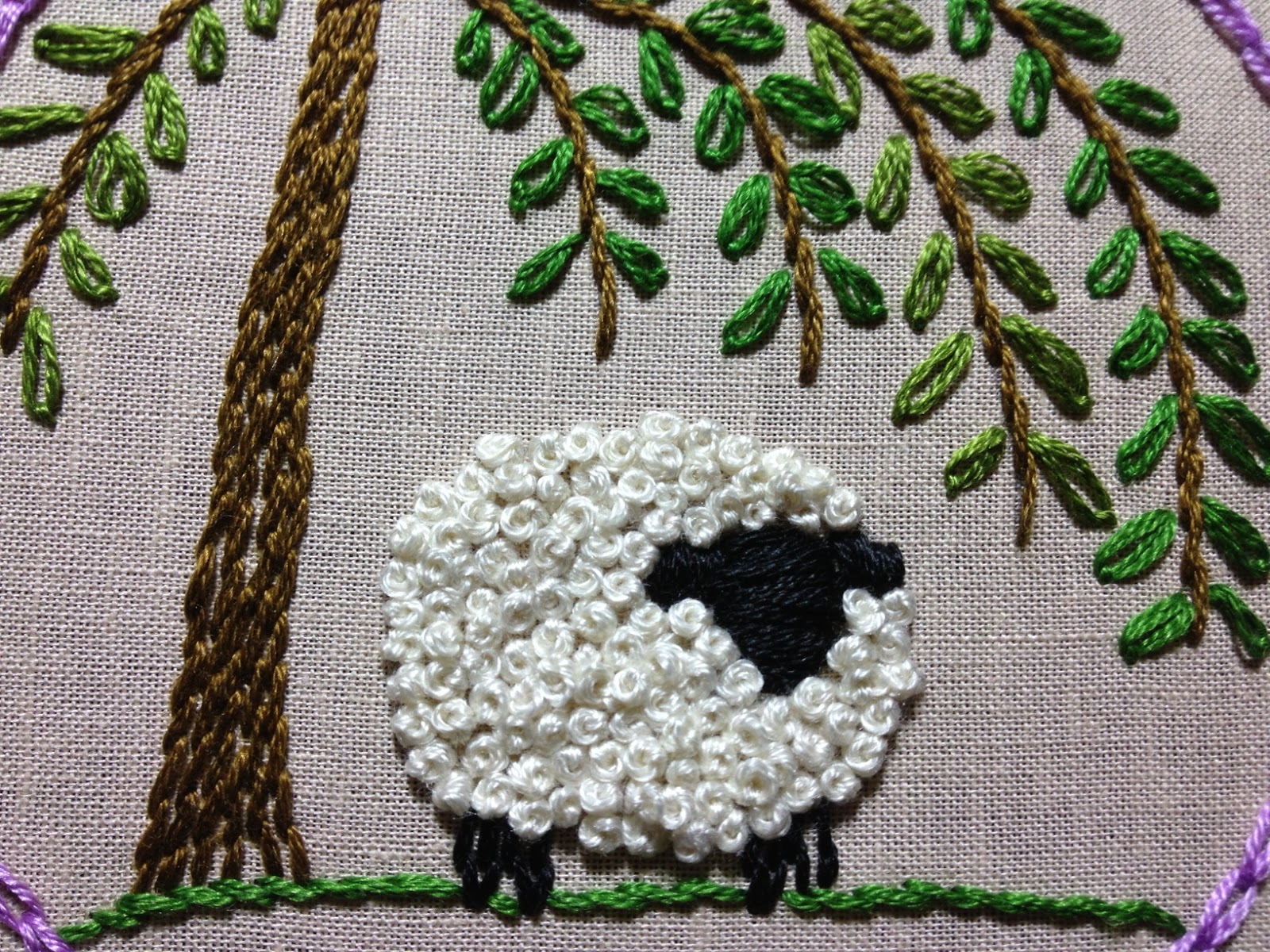 sheep embroidery