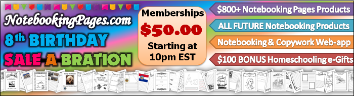 HUGE giveaway of 20 lifetime memberships to Notebooking pages.com starting at noon on April 29th and going unitil 10 pm.