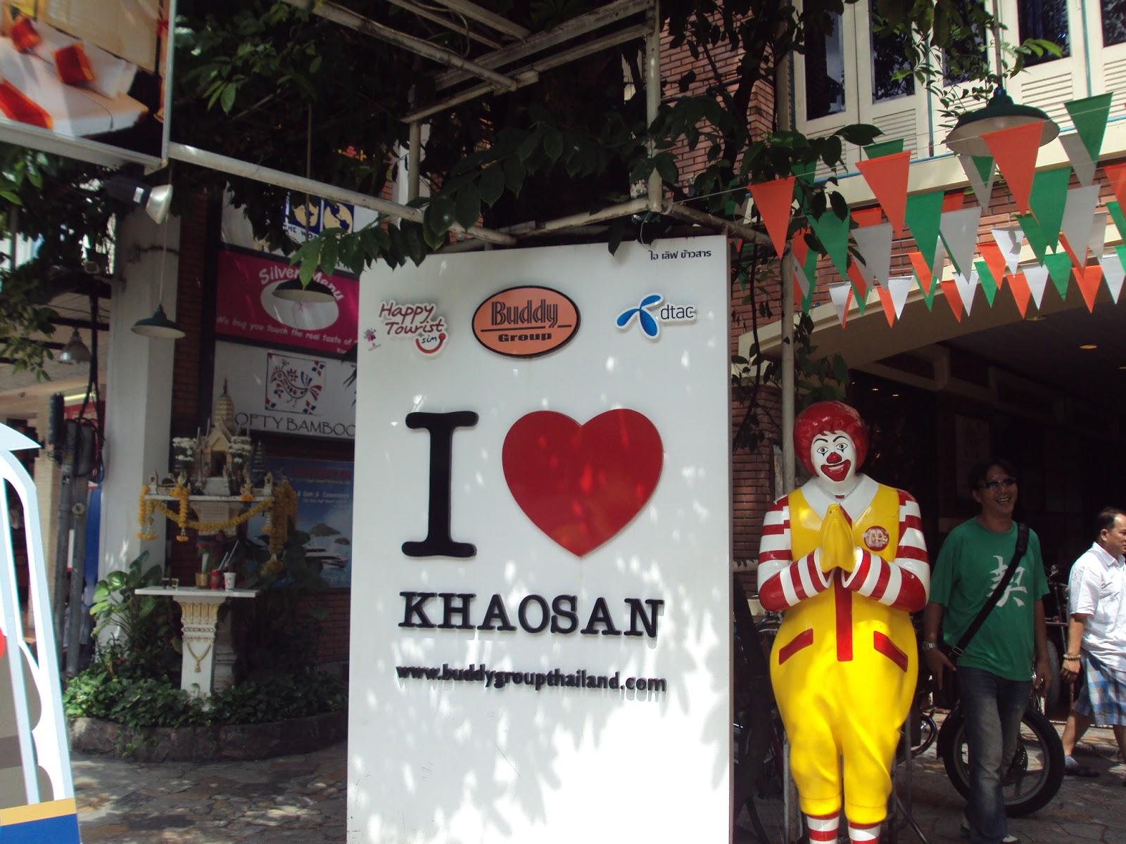 Tailândia famosa Khaosan Road