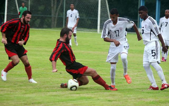 Selección Sub 23 propina goleada  14-2 a Fragata Británica en juego amistoso.