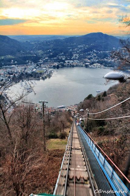 Linie funicular Como-Brunate - blog FOTO-IDEEA