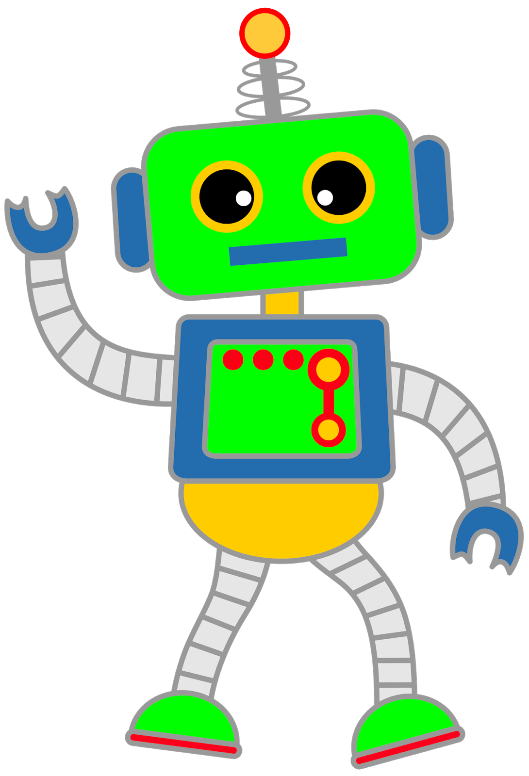 animated robot clipart - photo #7