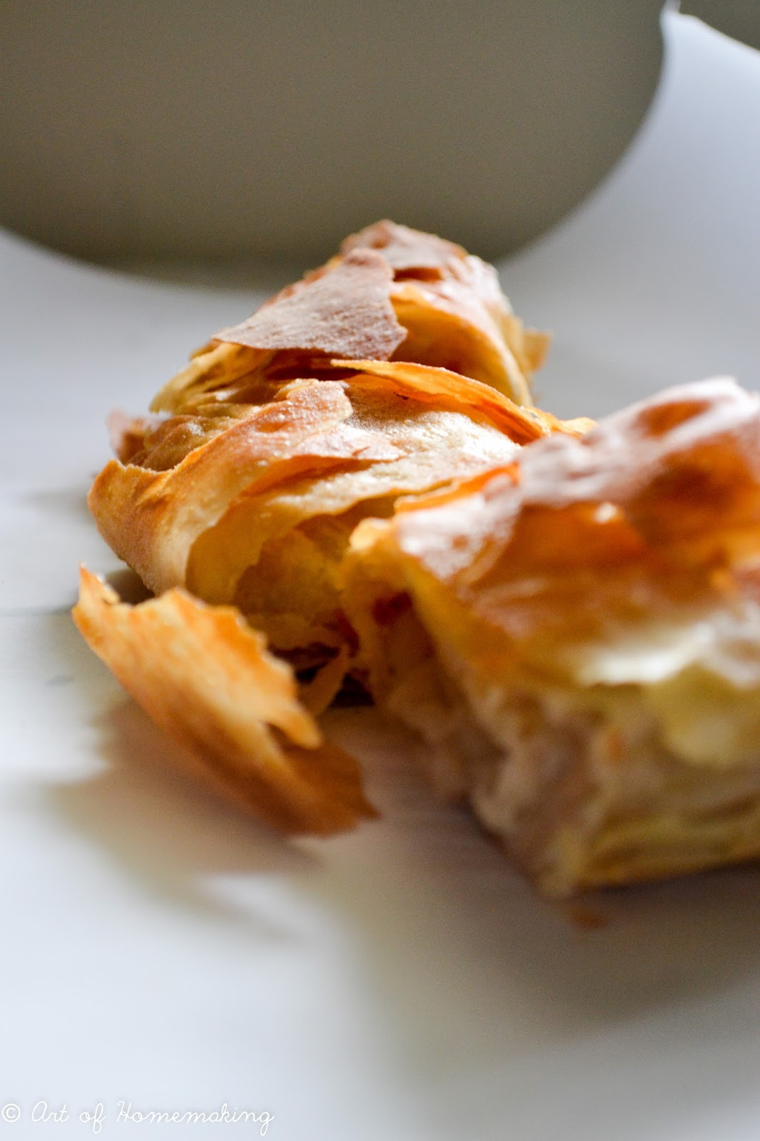 Apfelstrudel Traditional Apple Strudel With Photo