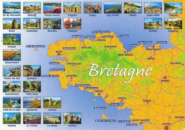 Mapa de Bretaña.