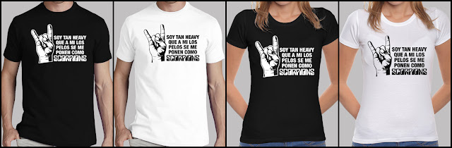 Camiseta PELOS COMO SCORPIONS