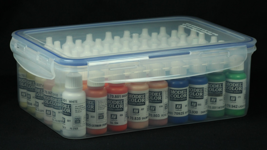 Art and Musings of a Miniature Hobbyist Organising paints on a