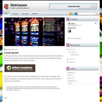 SlotGames blogger template. games template blog