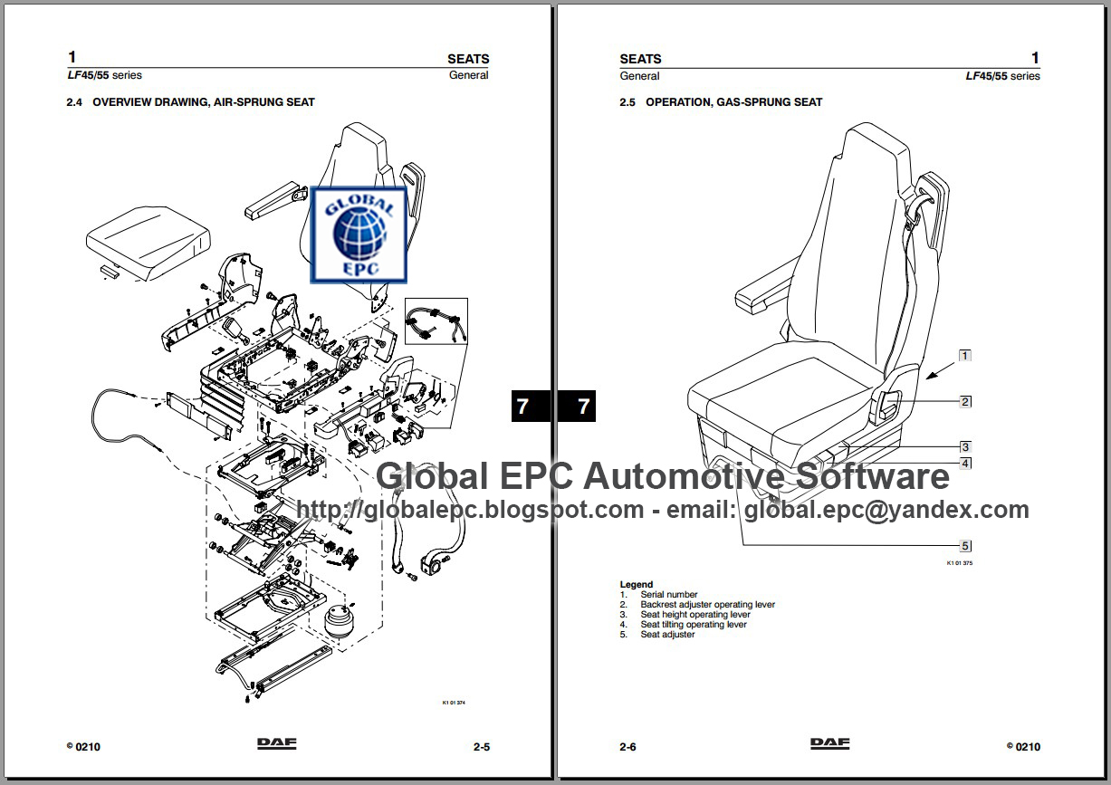 AUTO MOTO REPAIR MANUALS: DAF 95XF CF65 CF75 CF85 LF45