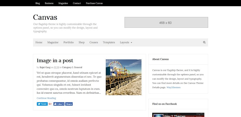 Canvas Free Blogger Template