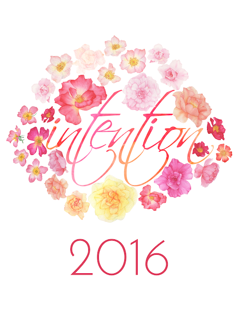 word of the year, intention, watercolor roses, Anne Butera, My Giant Strawberry