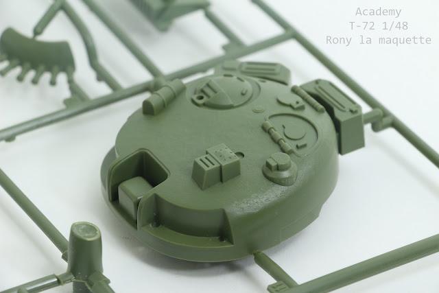 Review de la maquette du T-72 d'Academy au 1/48.