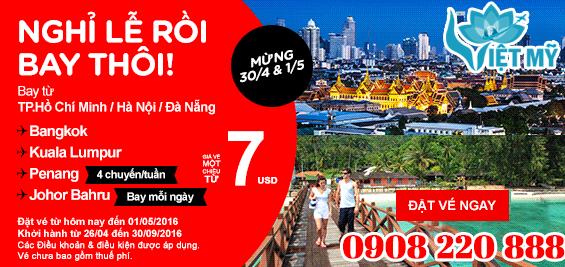 Khuyến mãi Air Asia 7 USD