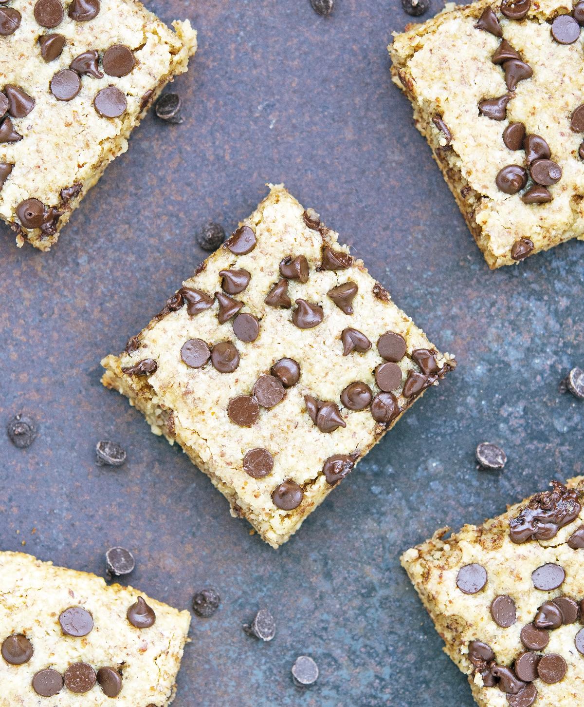 (Paleo) Chocolate Chip Cookie Squares