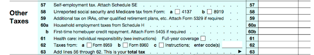 This section is basically like the last, just adds more taxes owed in that don't get credits taken out.
