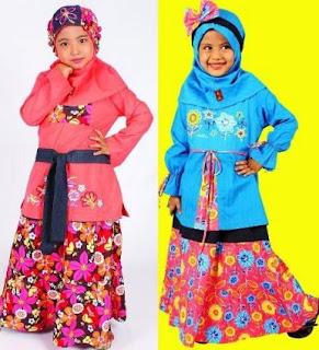 contoh gambar baju muslim anak