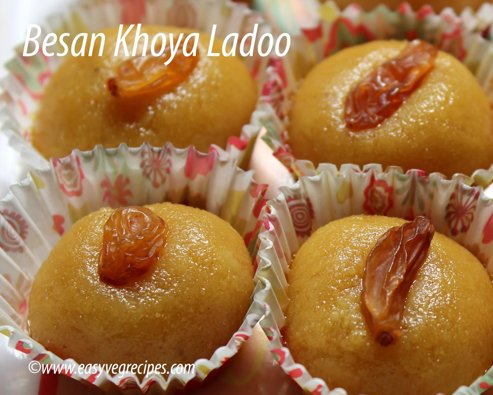 Besan Khoya Ladoo