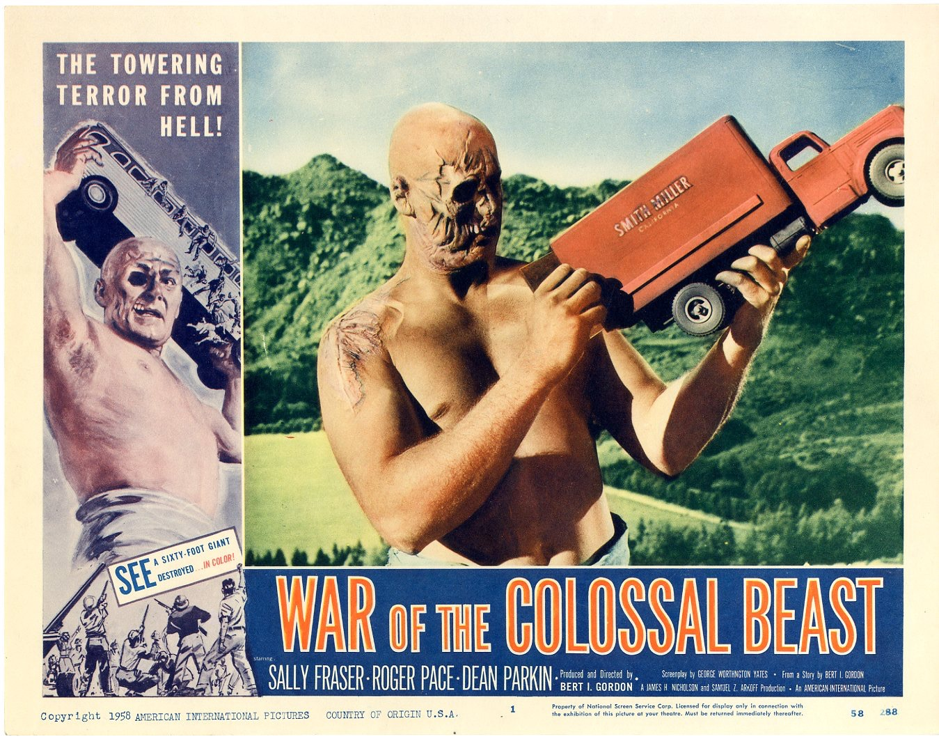 The Amazing Colossal Man (aka The Colossal Man) is a 1957 black-and-white science  fiction film, directed by Bert I. Gordon and starring Glenn Langan.