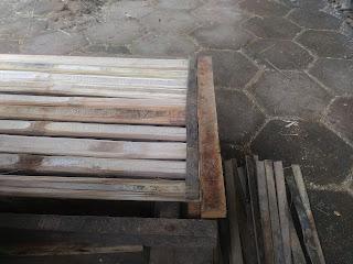 bambu yang sudah di jepit