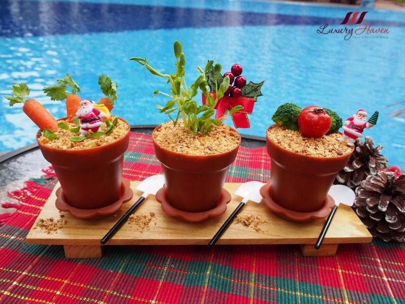 purelyfresh christmassy potted plant salad recipe