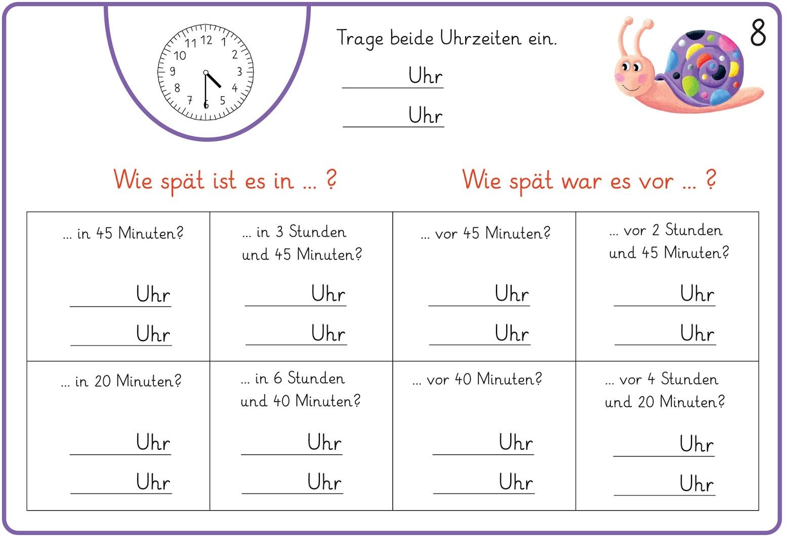 Zeitspannen Berechnen 3 Klasse Arbeitsblätter : lernst bchen zeitspannen berechnen eine kartei zum knobeln ~ Themetempest.com Abrechnung