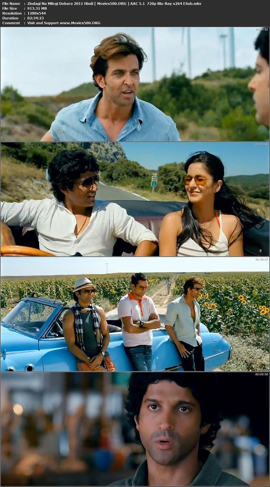 Zindagi Na Milegi Dobara 2011 Hindi Download BluRay 720p ESubs at movies500.site