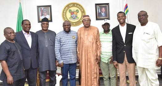 Ambode Receives Members Of APC NWC Panel (Photo)