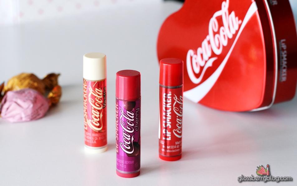 מתנה טו באב המלצה סקירה glossberry coca cola lip smackers גלוסברי בלוג איפור וטיפוח גילטי באלם שפתיים שפתון ליפ סמאקרס קוקה קולה