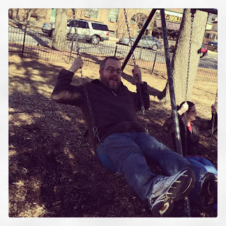Picture of me on a swing following lunch