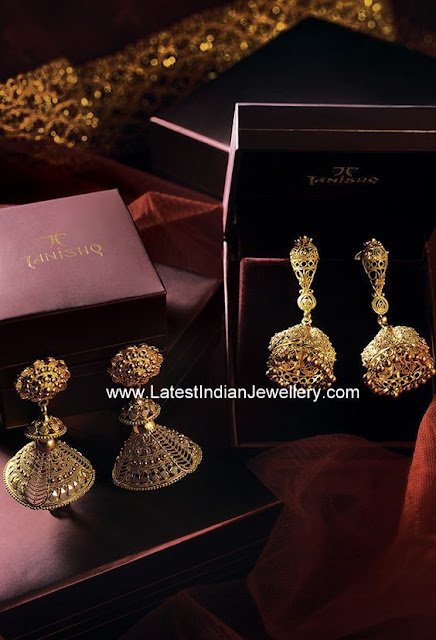 Tanishq Jhumka Earrings