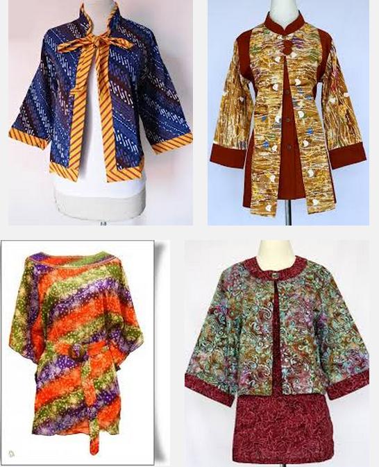 Fashion Tren Model Baju Batik Kantoran Wanita Terbaru 2015 dan 2016