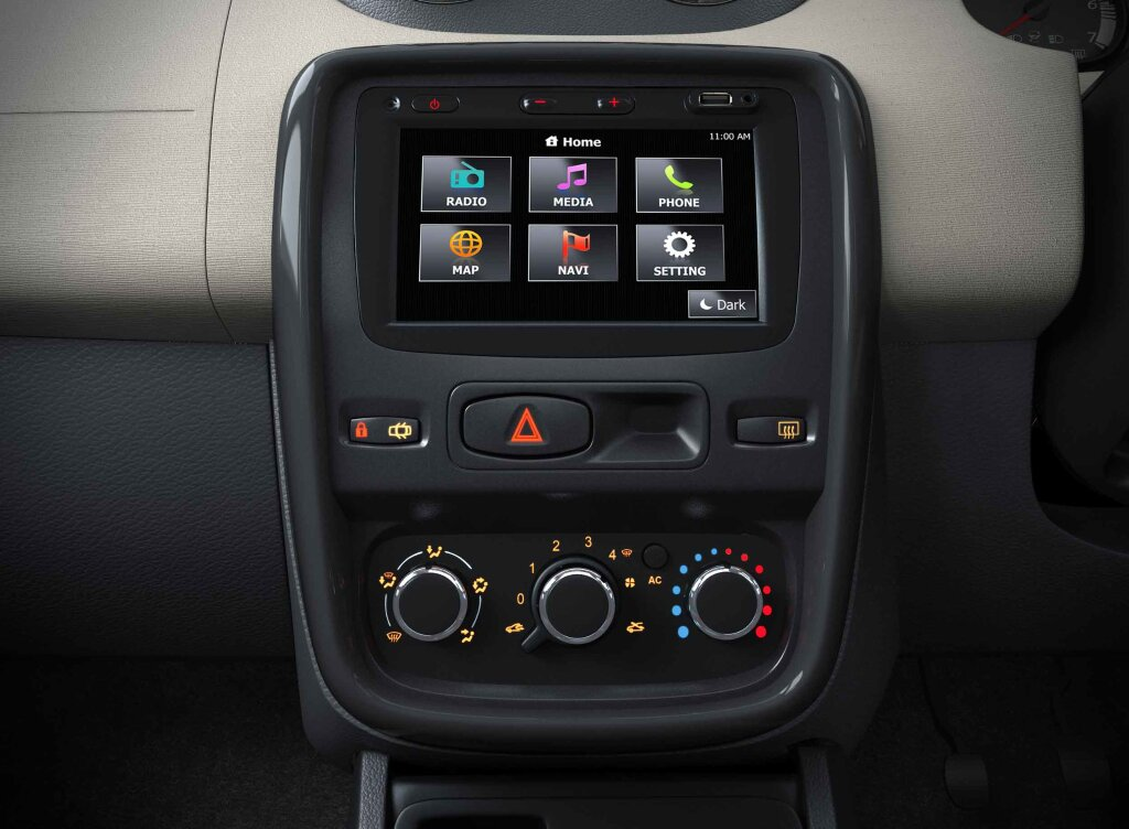 Renault Duster Gets An All New Touch Screen Multimedia Navigation System Electric Engine