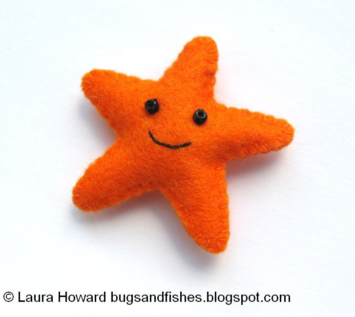 Bugs And Fishes By Lupin: How To: Make A Mini Felt Starfish