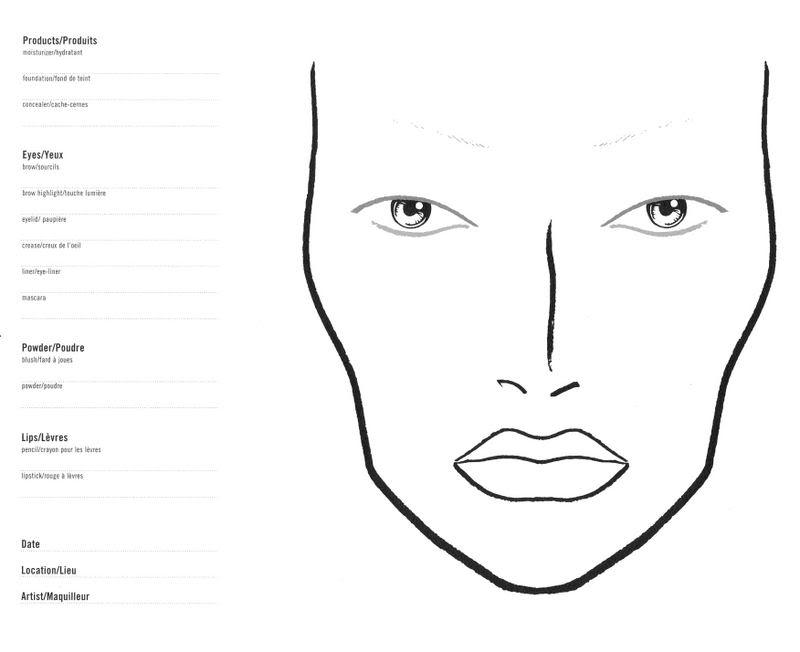 MARTA MAKE UP: Face Charts