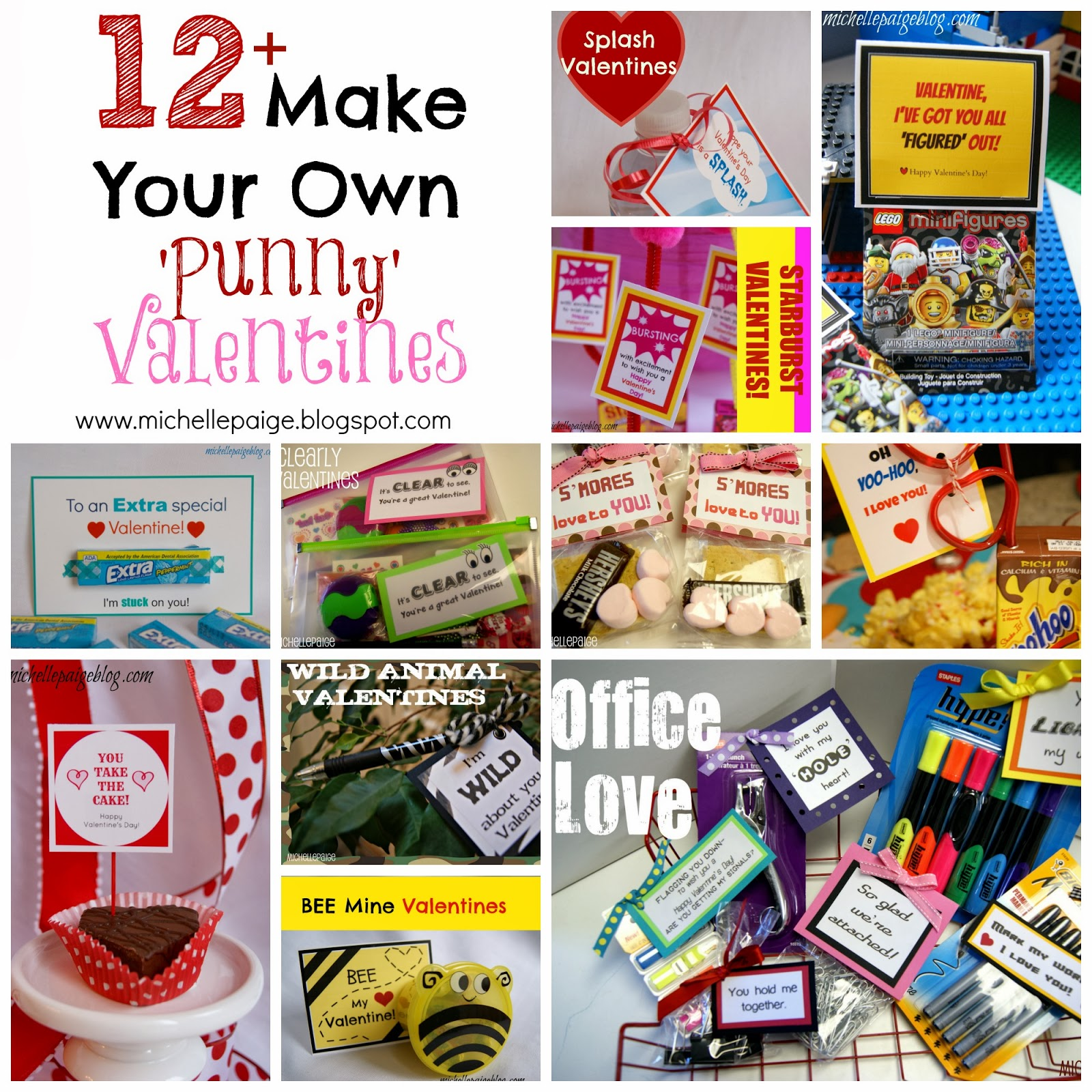 Michelle Paige Blogs Make Your Own Pun Valentines