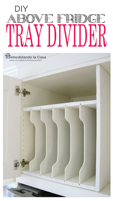 do it yourself - tray divider for above the refrigerator
