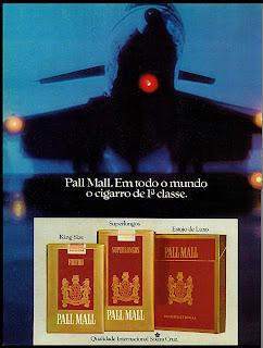 propaganda cigarros Pall Mall - 1974; propaganda anos 70; história decada de 70; reclame anos 70; propaganda cigarros anos 70; Brazil in the 70s; Oswaldo Hernandez;