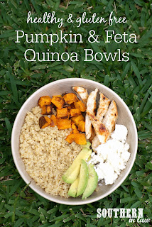 Healthy Roasted Pumpkin and Feta Quinoa Bowls Recipe