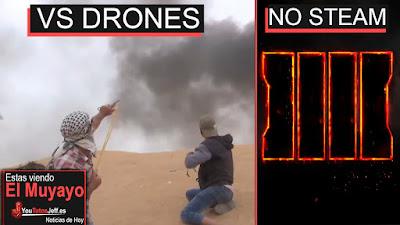 Lanzan piedras a drones, drones piedras, call of duty, call of duty black ops 4, noticias, ultimas noticias, noticias 2018, world of warcraft