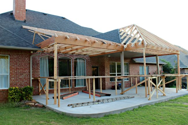 Patio Project Framing And Roof Dimples Tangles