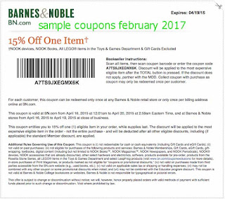 free Barnes and Noble coupons february 2017