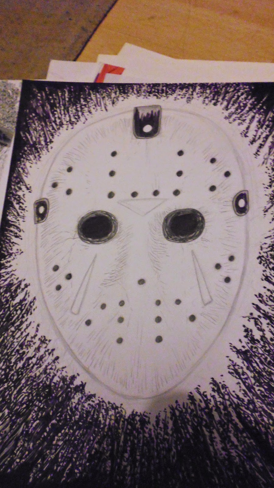 friday the 13th hockey mask art